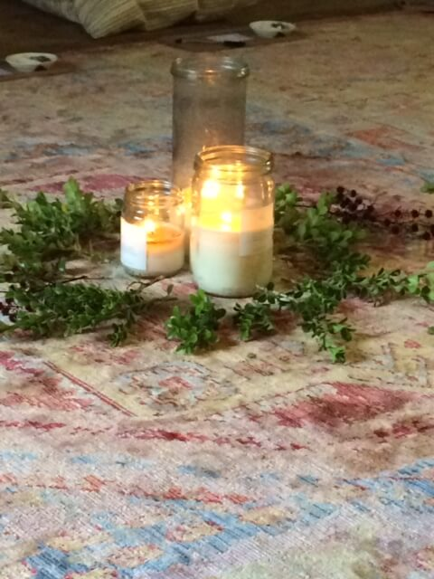 Violet Gray Intention Circle Candles