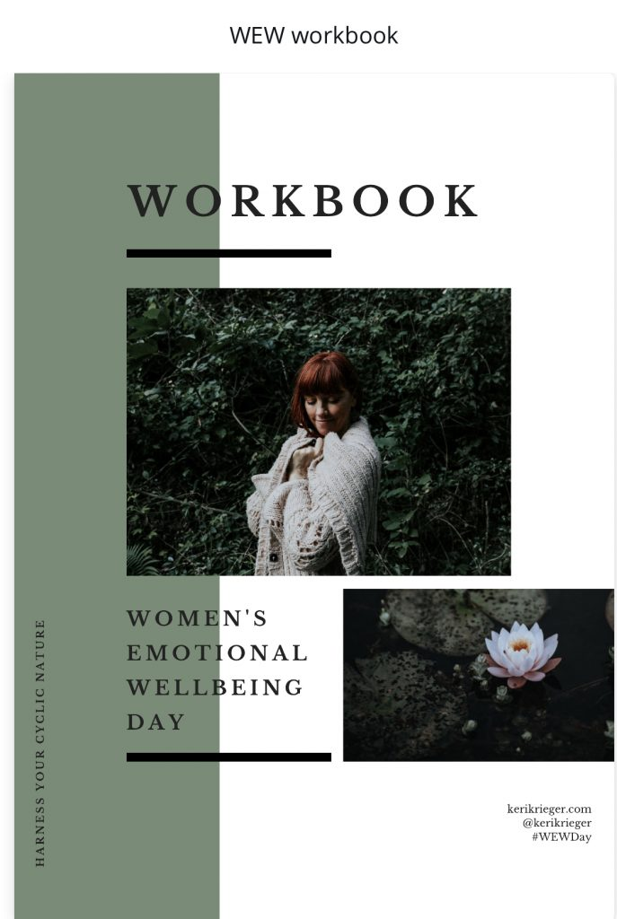 Womens Emotional Wellbeing, Chinese Medicine, Keri Krieger, Womens Health